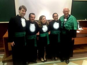 Doutores Lucio Garcia Oliveira, Danilo Antonio Baltieri, Flavia Ismael, Cintia de Azevedo Marques Périco e Arthur Guerra de Andrade