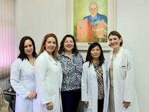 Susana Machado Passeti, Maria Amélia Frias, Roberta Jardim Criado, Lucia Mioko Ito e Cristina Laczynski